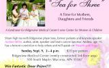 Tea for 3 ad Ridgeview Med Center