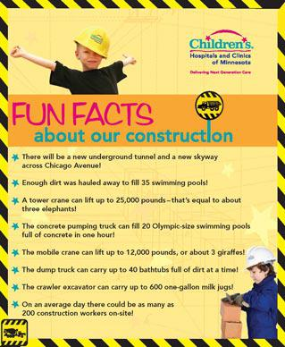 Childrens Fun Facts skyway construction poster