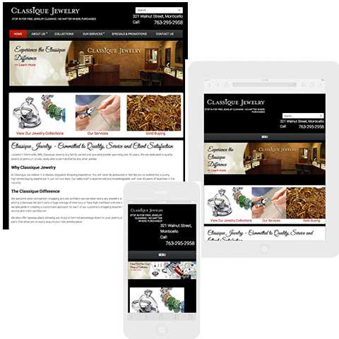 Classique Jewelry responsive web design