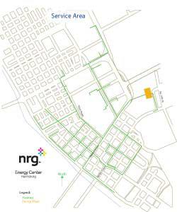 Harrisburg district heating and cooling map