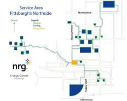 Pittsburgh district heating and cooling map