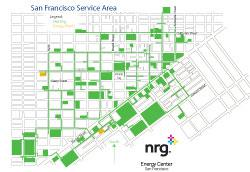 San Francisco district heating and cooling map